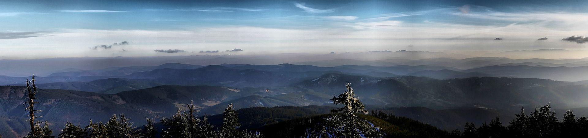 Panoráma z Lysé hory
